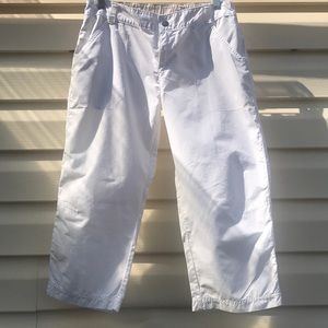 White Columbia capris pants.